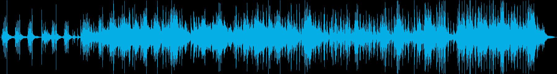 穏やかなピアノトリオバラードの再生済みの波形