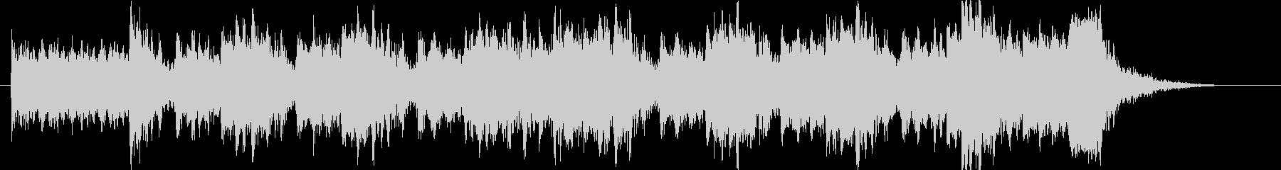ピアノを弾くテンションビルダーの未再生の波形
