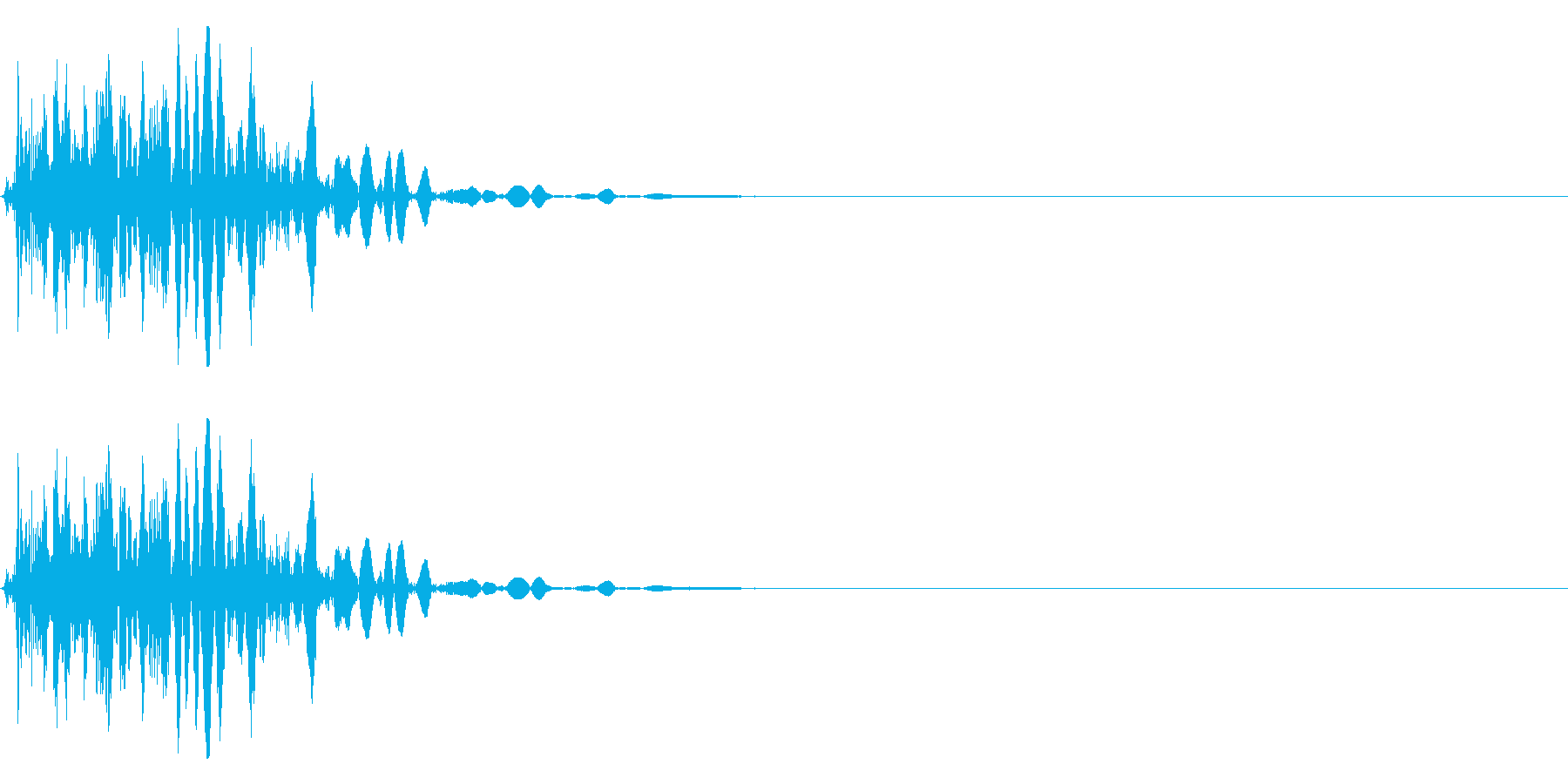 ドスッ 重めの足音の再生済みの波形