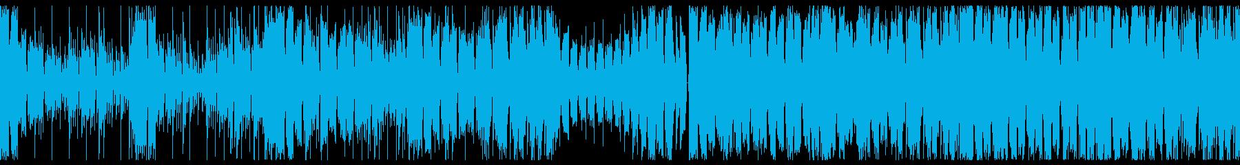 機械戦闘BGM ダブステップの再生済みの波形
