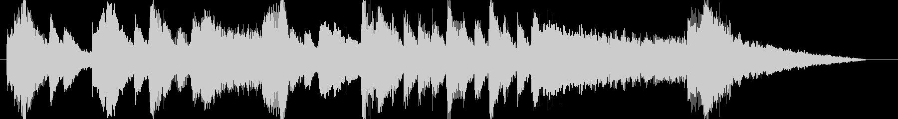 ピアノとストリングスのシリアスなフレーズの未再生の波形
