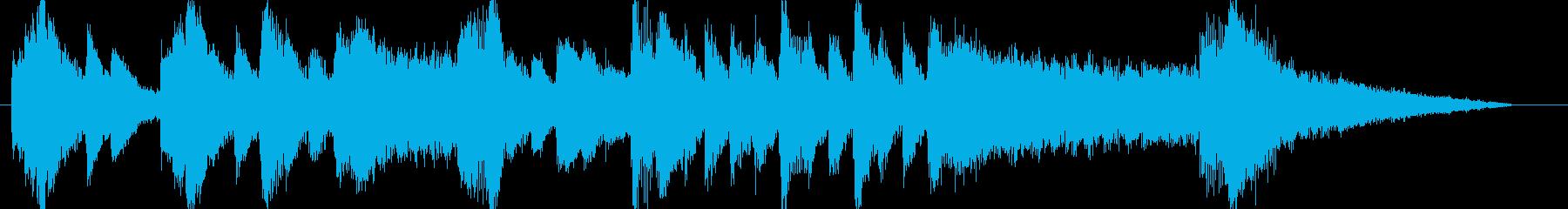 ピアノとストリングスのシリアスなフレーズの再生済みの波形