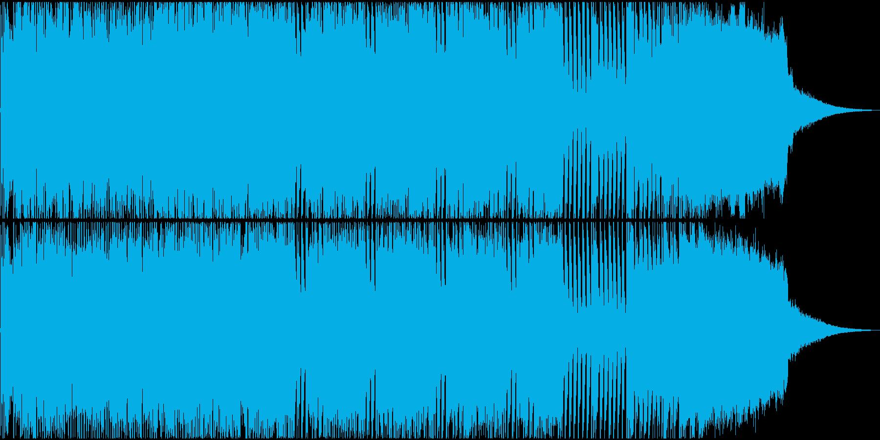 ワイルドな雰囲気のオープニングジングルの再生済みの波形