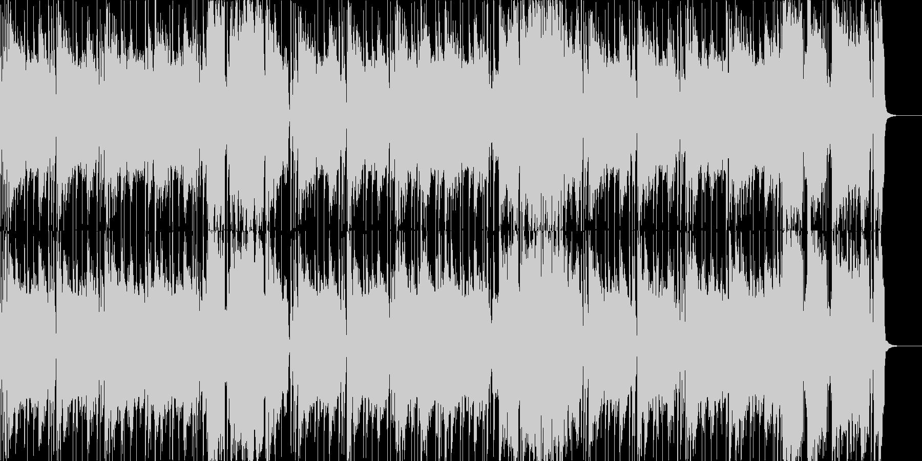 明るくだらしないバリトンサックスとホーンの未再生の波形