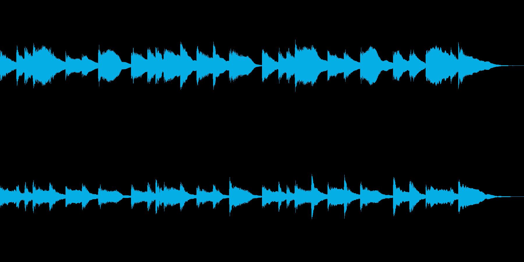 ほのぼのかわいい短い曲の再生済みの波形