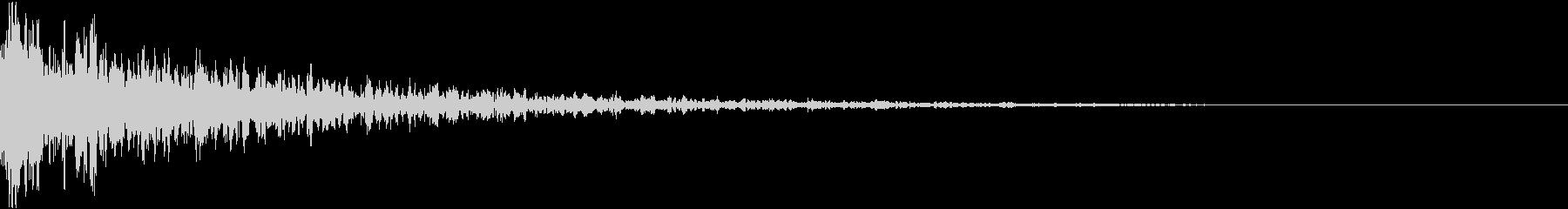 ドーン-12-2(インパクト音)の未再生の波形