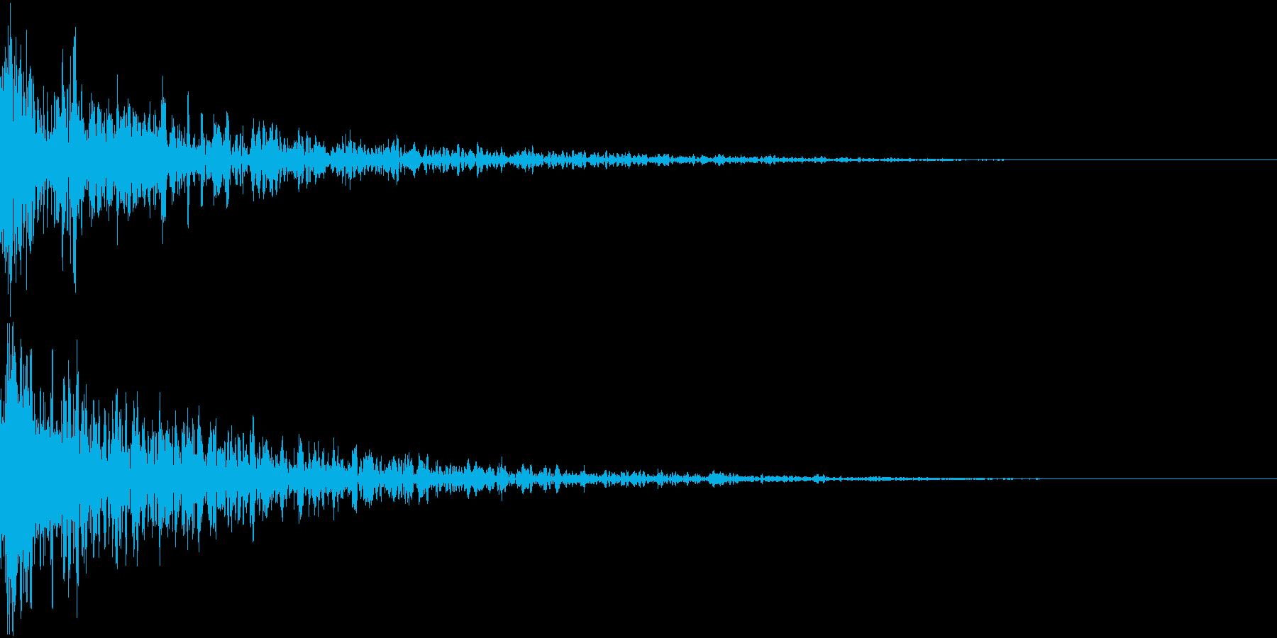 ドーン-12-2(インパクト音)の再生済みの波形