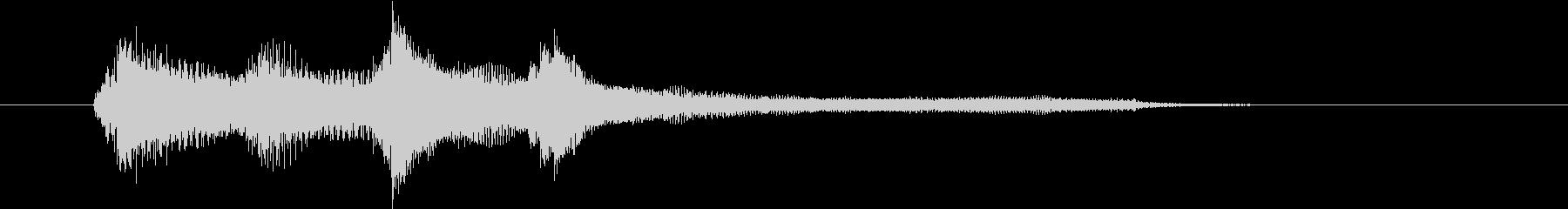 """【生楽器収録】華麗なる""""C""""の分散和音の未再生の波形"""