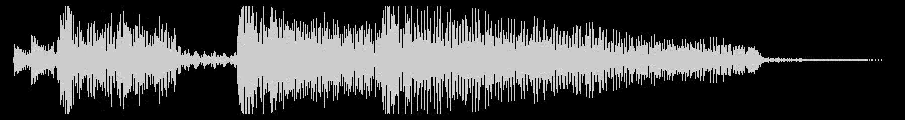 典型的なジャズ(明るめ約4秒)の未再生の波形