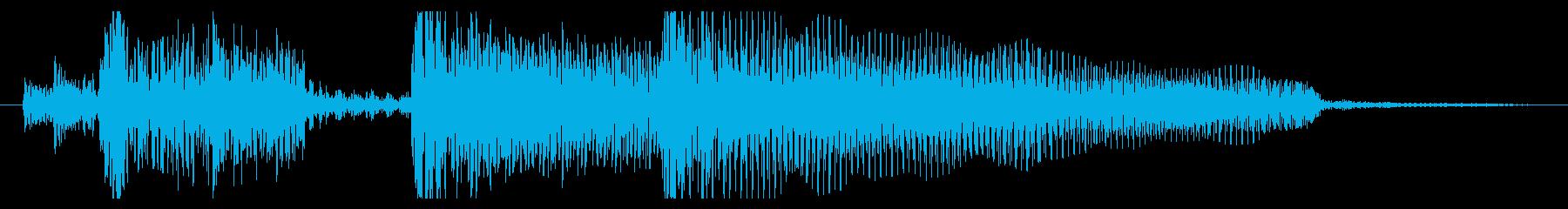 典型的なジャズ(明るめ約4秒)の再生済みの波形
