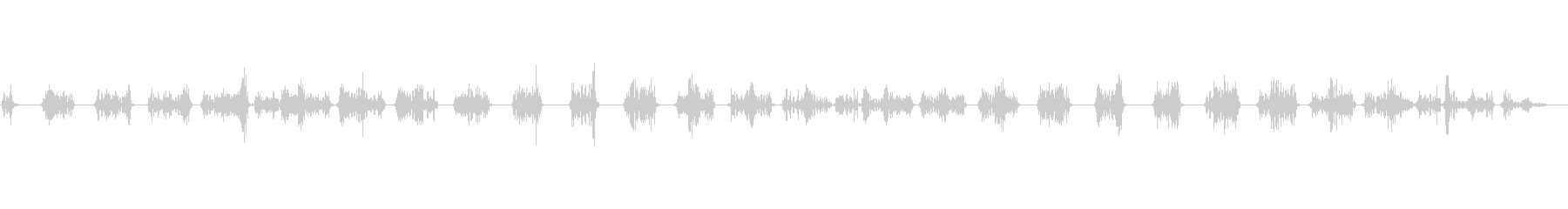 動くテキストを表示させる時の効果音の未再生の波形