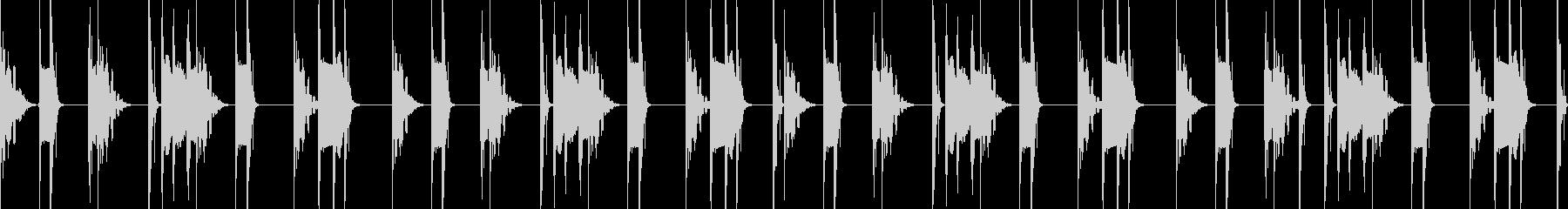 キックとスネアだけのブーンバップ8小節の未再生の波形