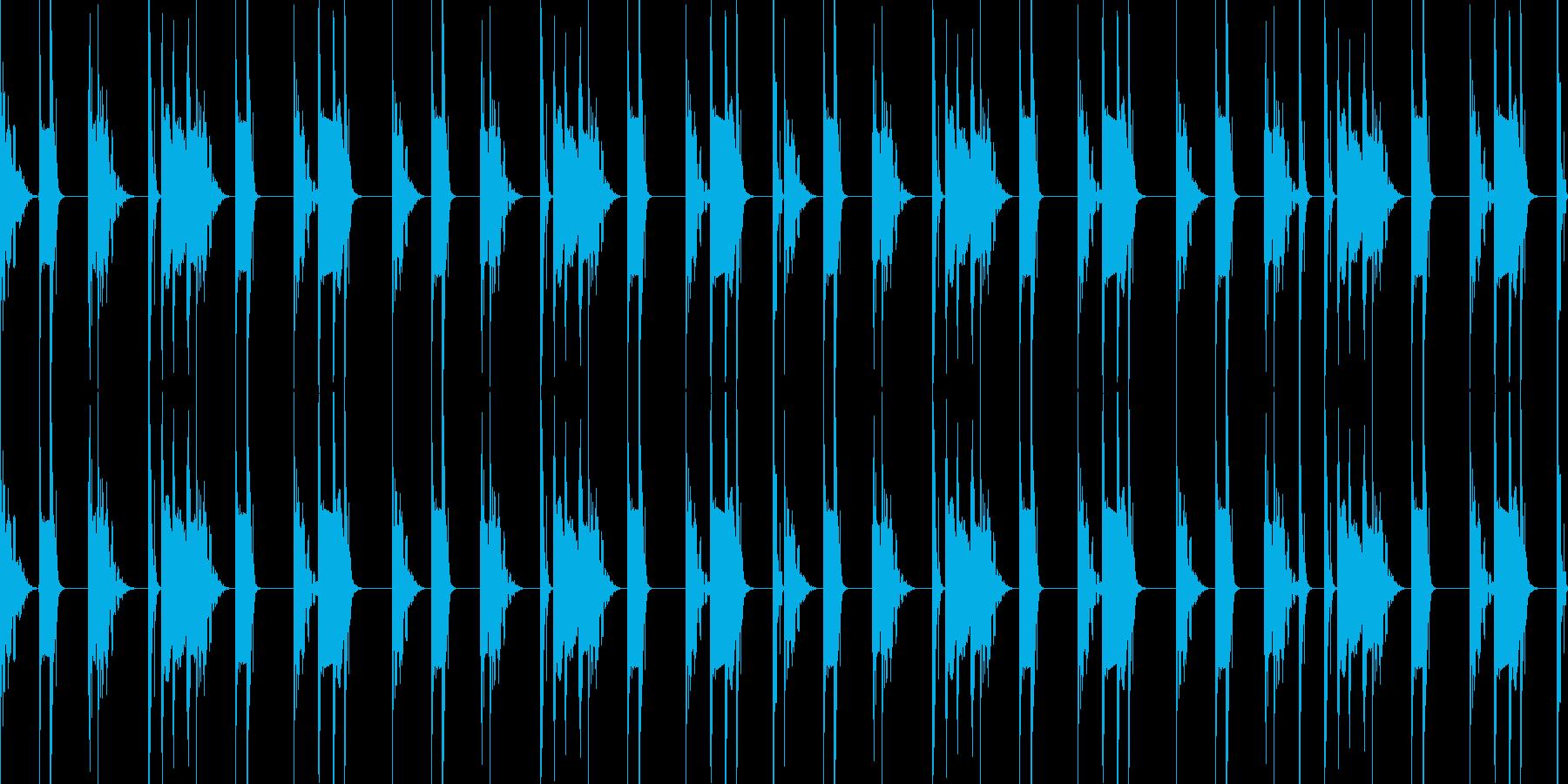 キックとスネアだけのブーンバップ8小節の再生済みの波形