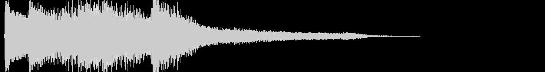 ゆったりとしたピアノの綺麗な伴奏(短め)の未再生の波形