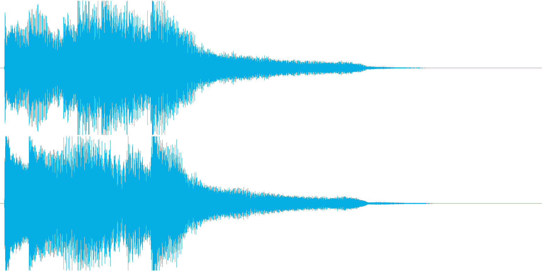 ゆったりとしたピアノの綺麗な伴奏(短め)の再生済みの波形