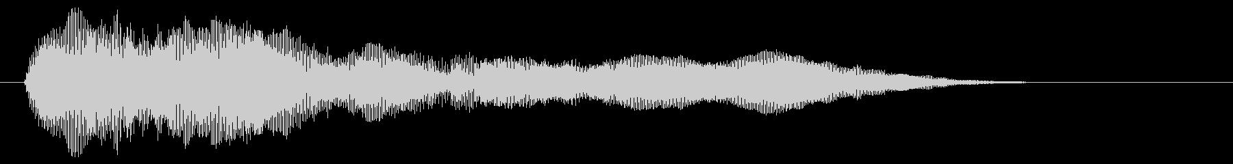 コンッ ゲーム キャンセル音の未再生の波形