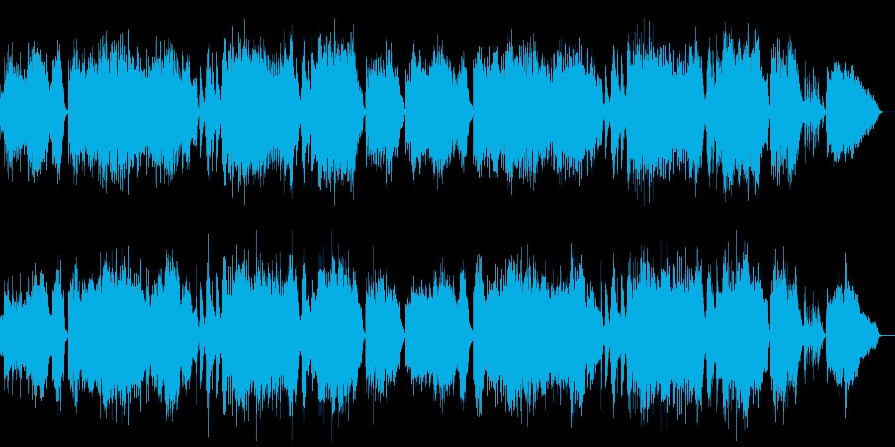 優しい和風の曲・日本の行事の再生済みの波形