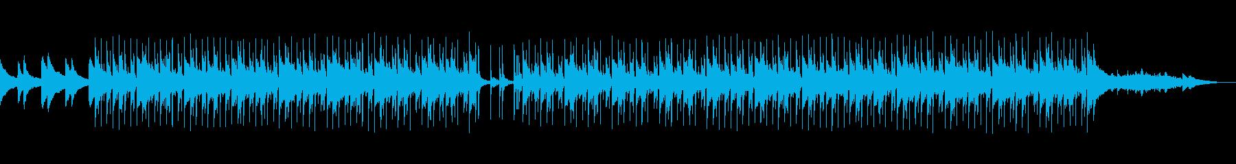 CMなどに 爽やか透明なピアノとリズムの再生済みの波形