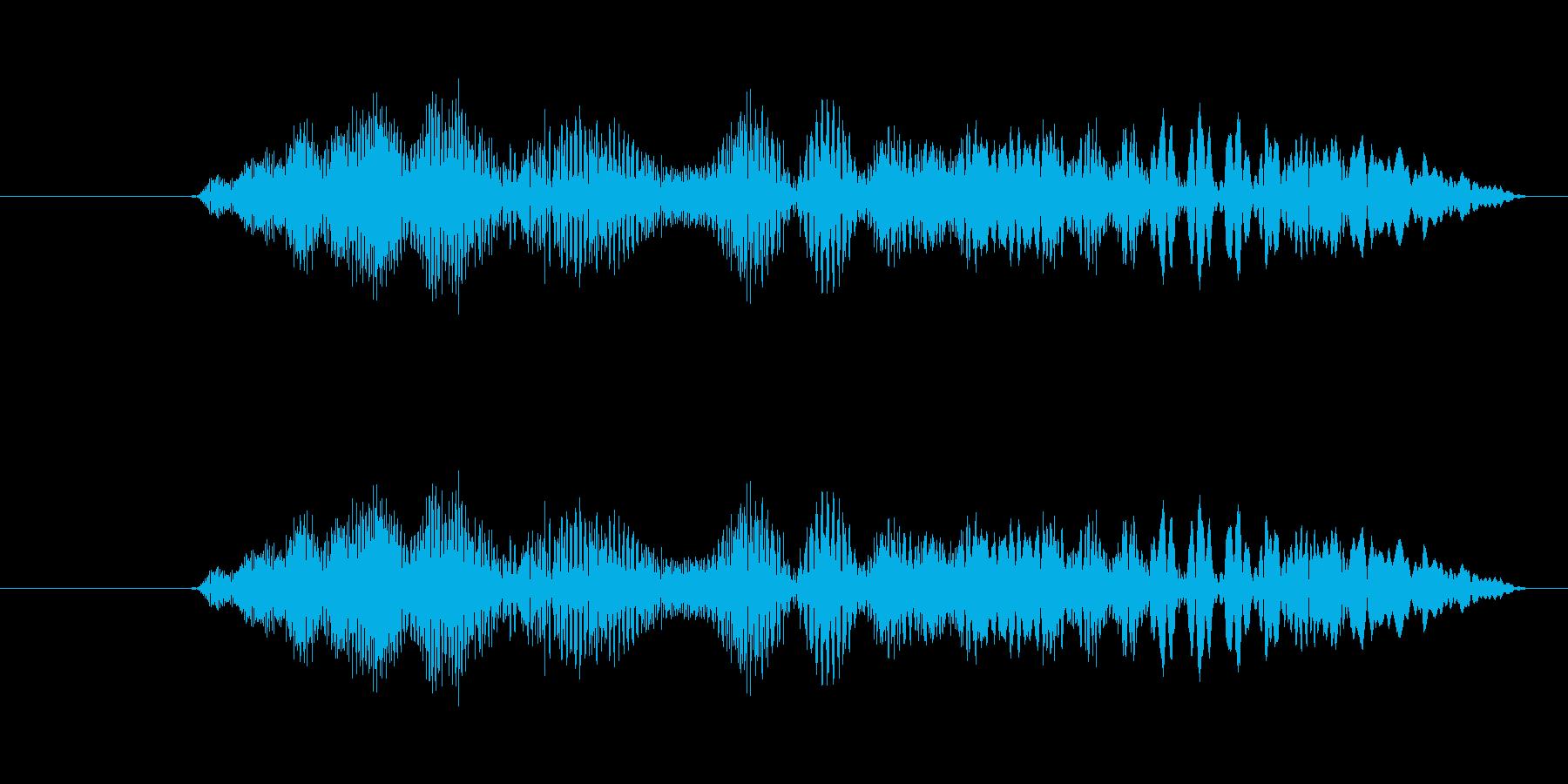 特撮 確認01の再生済みの波形