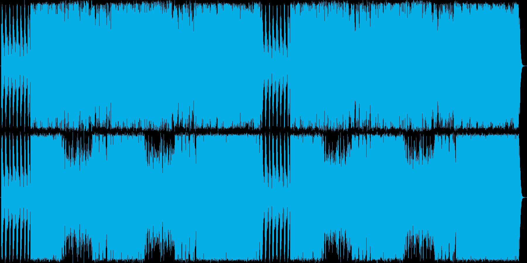 駆け抜ける和のBGMの再生済みの波形