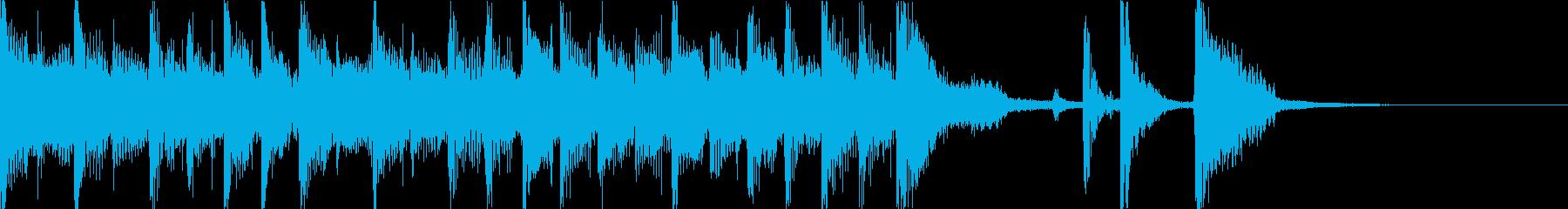 ギターやシンセによる短いアタック曲の再生済みの波形