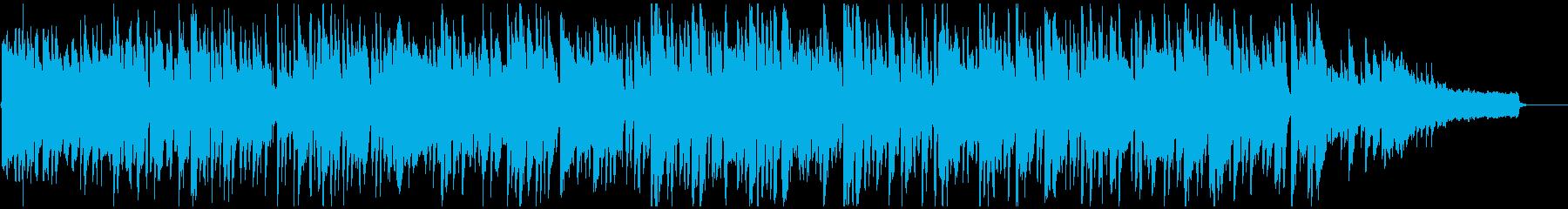 爽やかなリコーダーの日常系劇伴、ボサノバの再生済みの波形