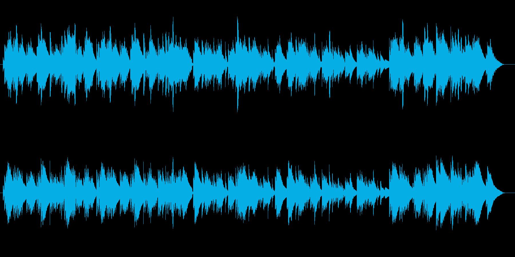 回顧シーンに使える懐かしいBGMの再生済みの波形