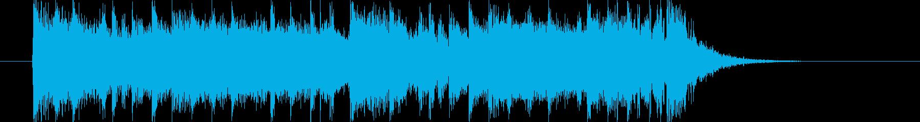 ワイルドダークなシンセジングルの再生済みの波形