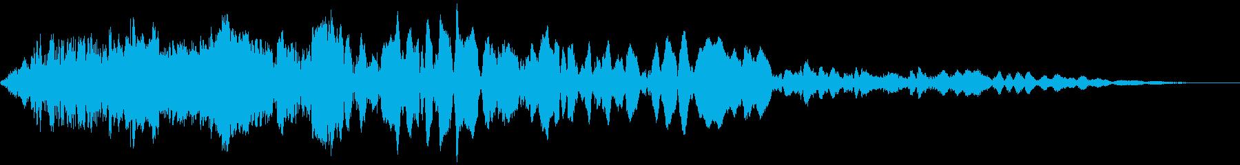 車 レース ブレーキ/タイヤスキール音5の再生済みの波形
