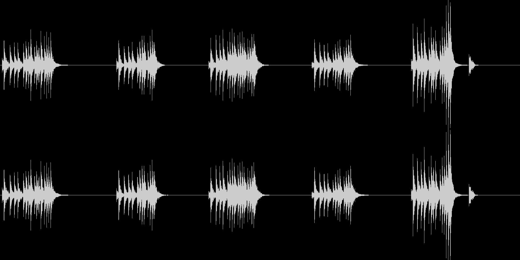 大太鼓8風音歌舞伎情景描写和風和太鼓ホラの未再生の波形