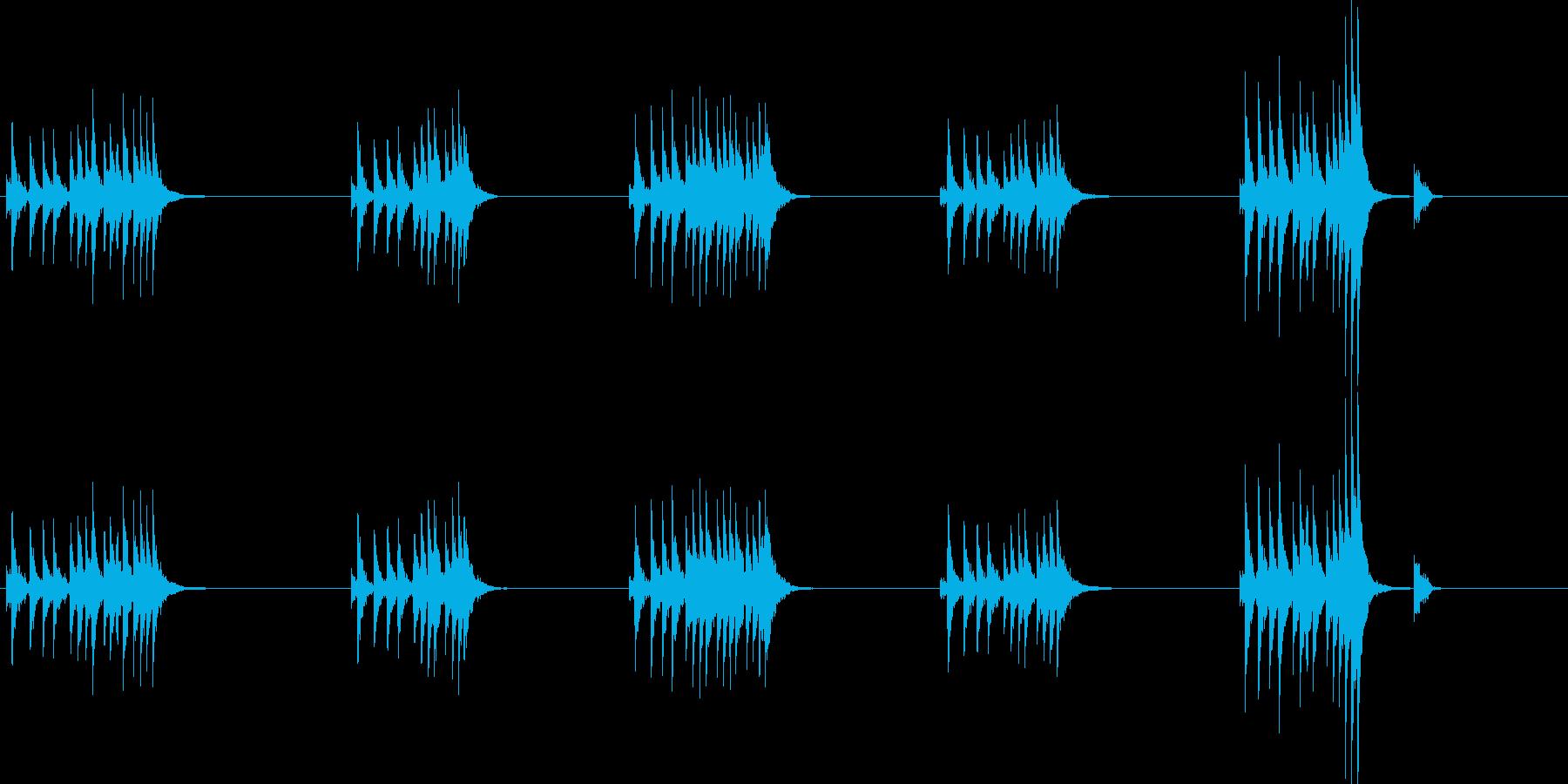 大太鼓8風音歌舞伎情景描写和風和太鼓ホラの再生済みの波形
