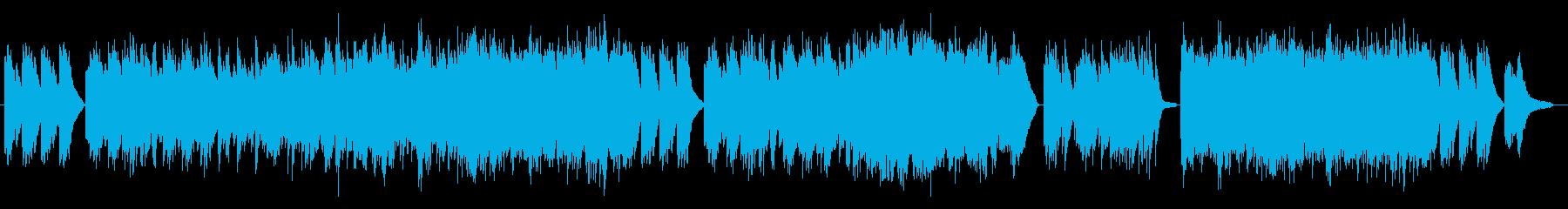 冬の夜をイメージした曲の再生済みの波形