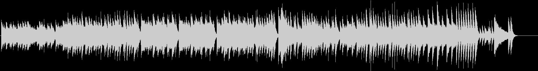 楽しいウインタースポーツのピアノBGMの未再生の波形
