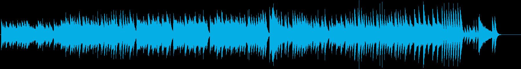 楽しいウインタースポーツのピアノBGMの再生済みの波形
