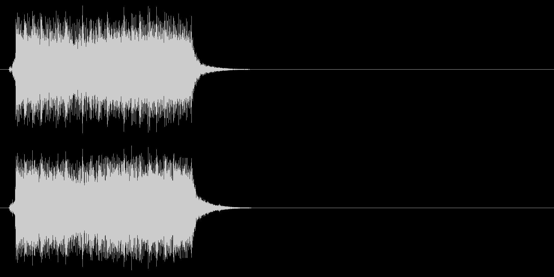 ジングル/アタック(ロック/ポップ)の未再生の波形