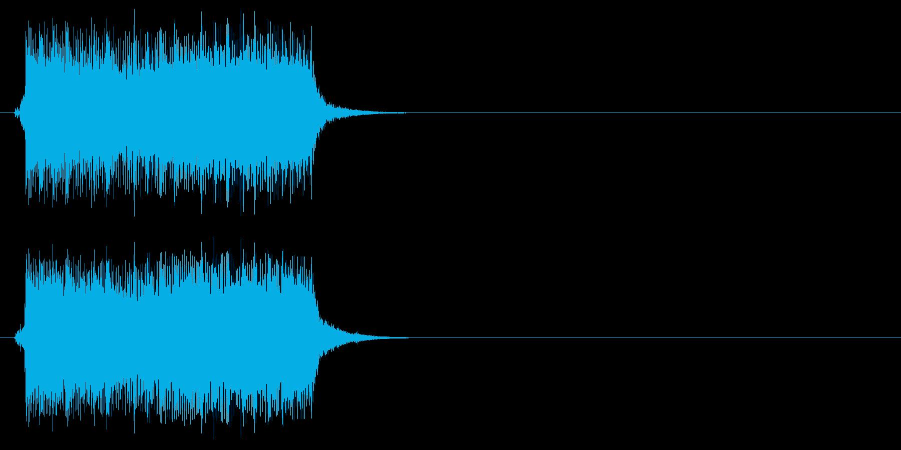 ジングル/アタック(ロック/ポップ)の再生済みの波形