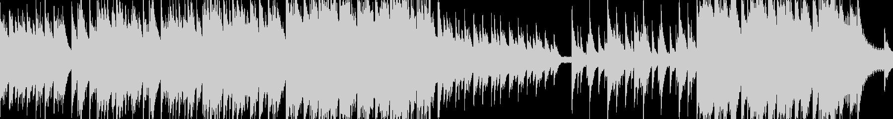 綺麗なピアノソロBGM ループ版の未再生の波形