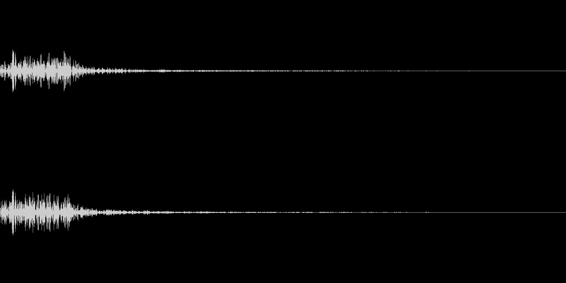 ゴーッ(重い石を動かす音)の未再生の波形