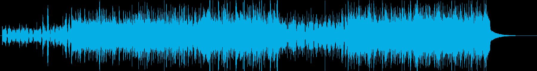 リフで攻めるEDMの再生済みの波形