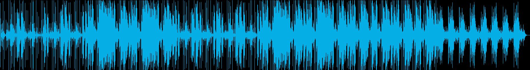 ジャングルをさまようようなBGMの再生済みの波形