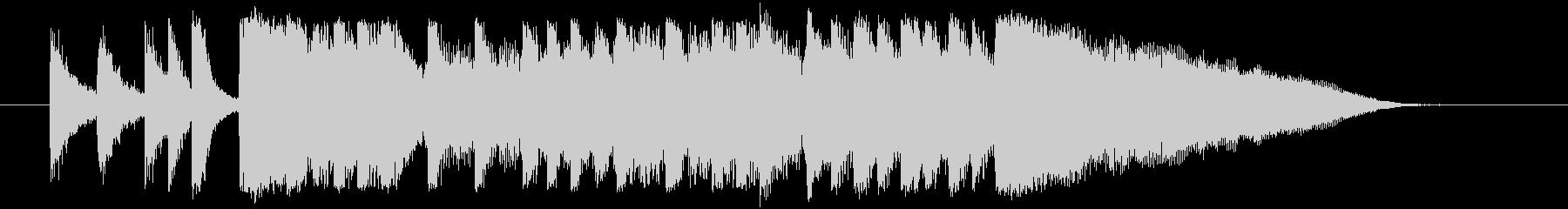 ロックアレンジのサウンドロゴ、ショート…の未再生の波形