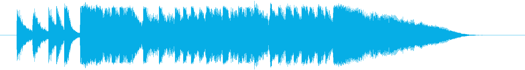 ロックアレンジのサウンドロゴ、ショート…の再生済みの波形