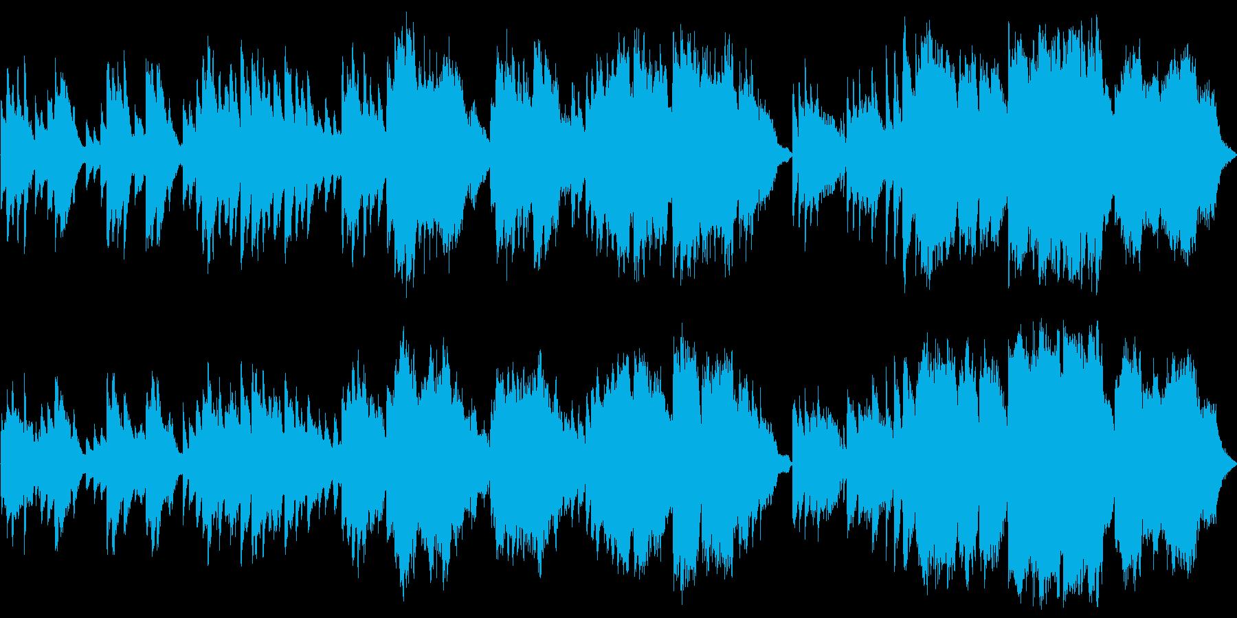 ピアノとチェロの優しくメロディックな曲の再生済みの波形