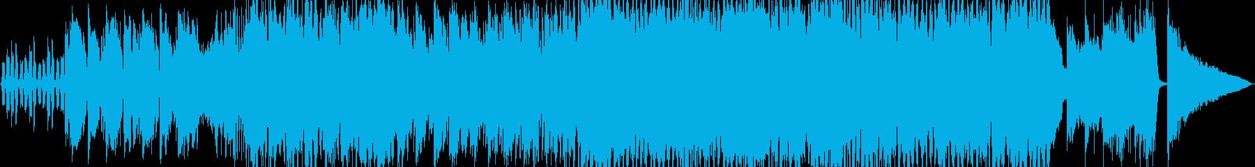 生演奏《明るくアップテンポなサックス》の再生済みの波形