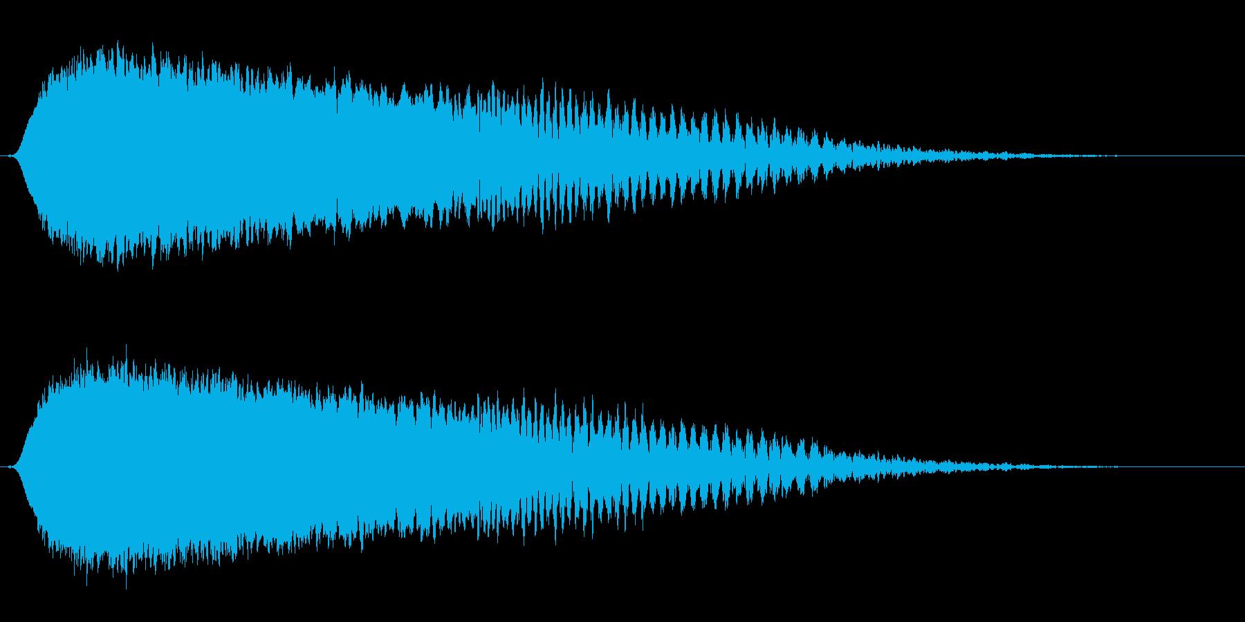 ヒューン↓(緩やかな落下音・コミカル)の再生済みの波形