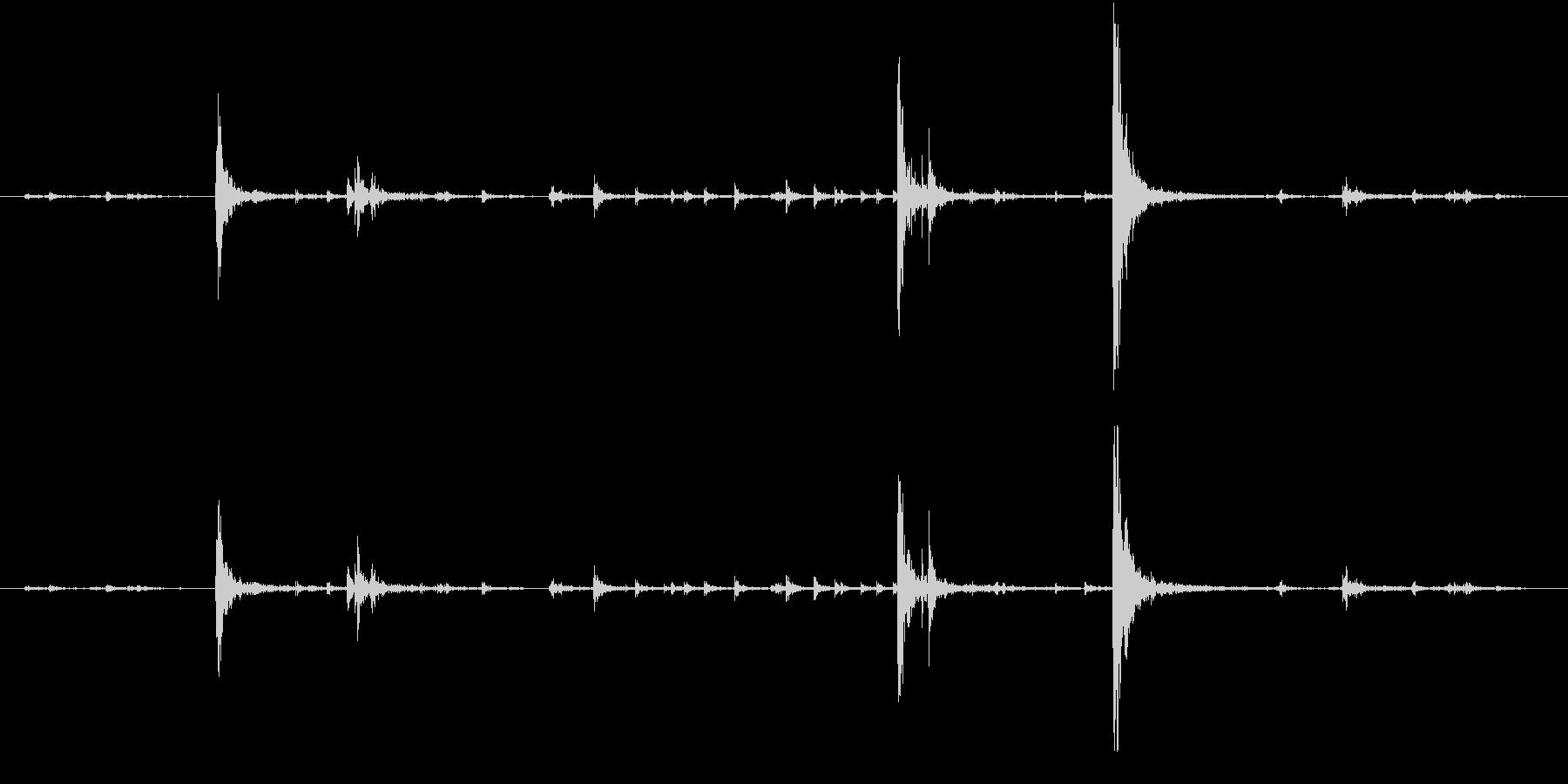 【生録音】弁当・惣菜パックの音 4の未再生の波形