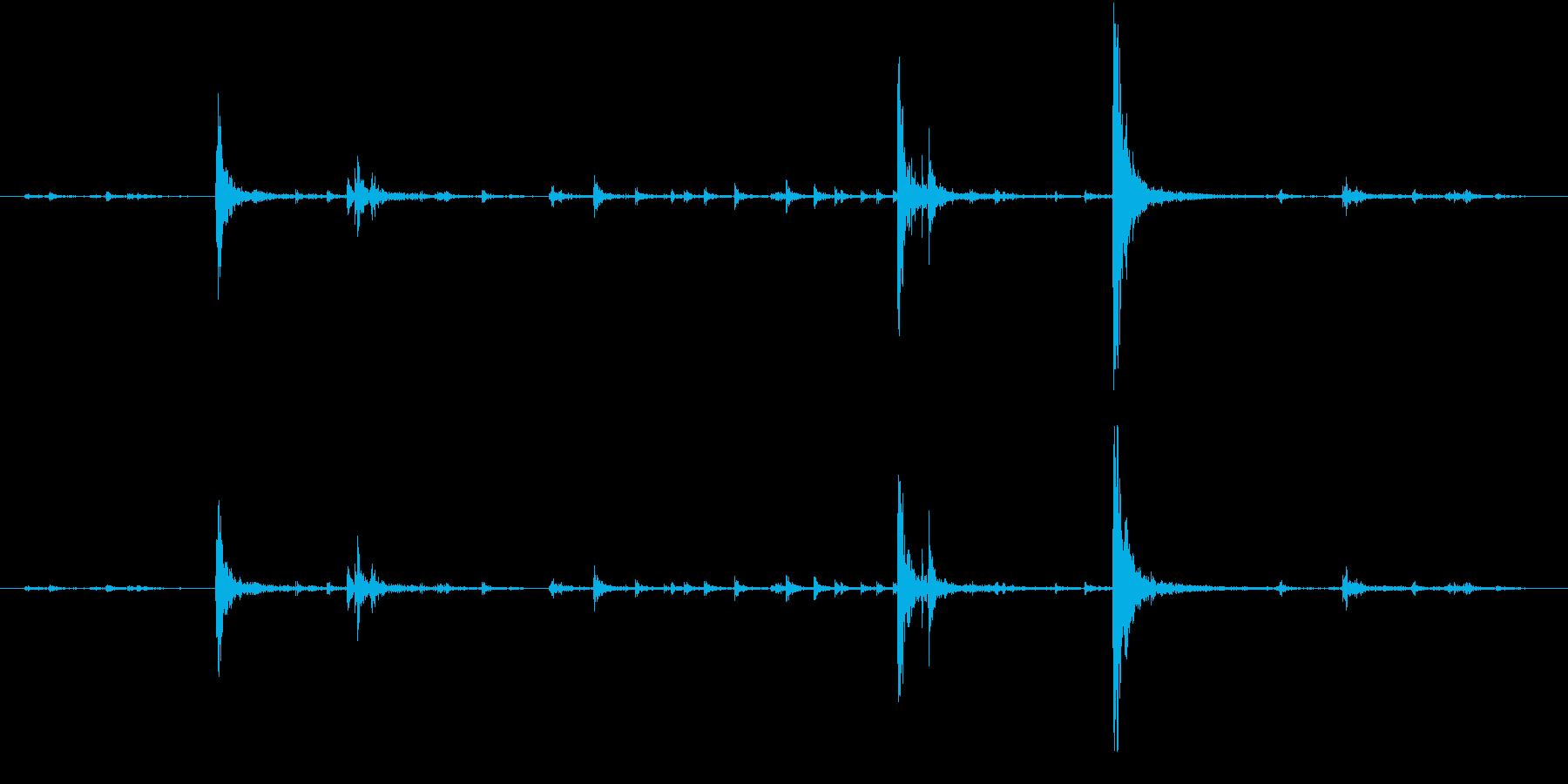 【生録音】弁当・惣菜パックの音 4の再生済みの波形