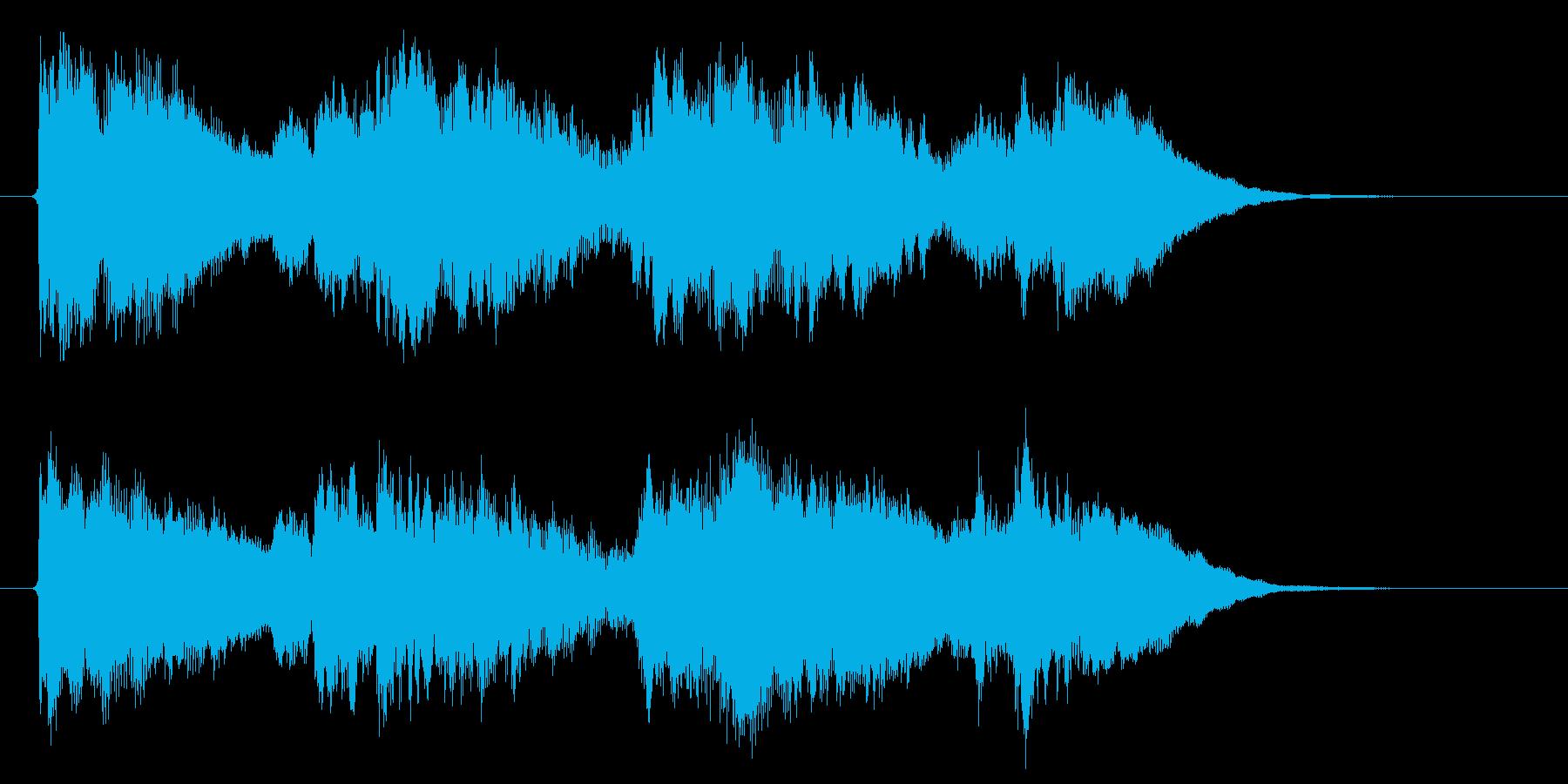 和やかで爽快感のあるキレイな音楽の再生済みの波形