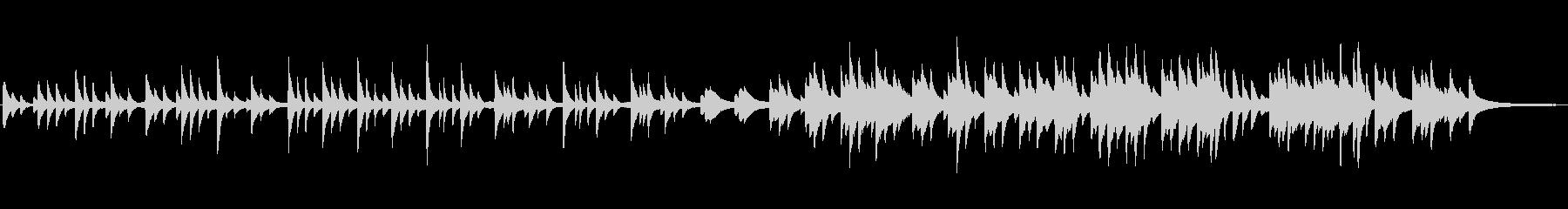 切なく穏やかなクラシックピアノの未再生の波形