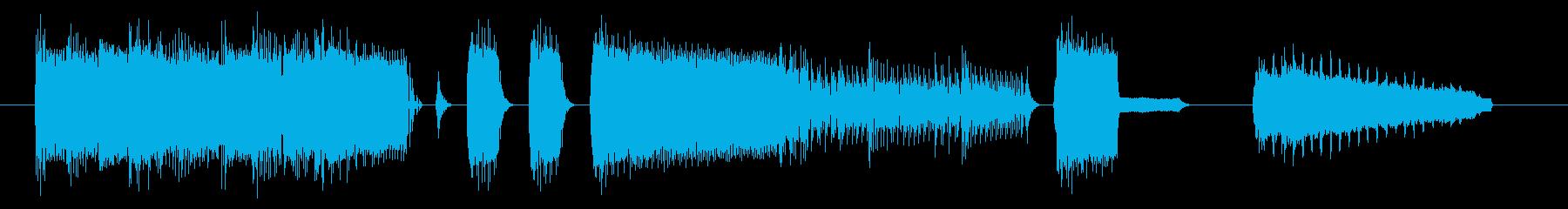 NES アクションC10-1(スタート1の再生済みの波形
